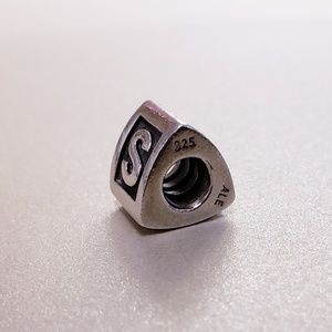 Authentic Pandora Retired Block Letter S Charm